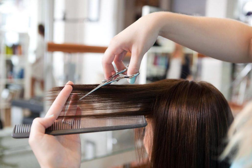 Salon de coiffure en bâtiment modulaire