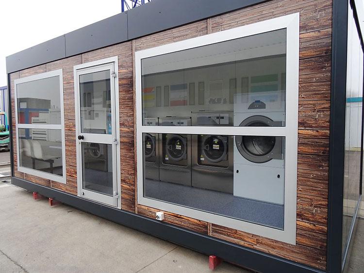 Laverie automatique en b timent modulaire lavomatique - Prix lavage couette laverie automatique ...