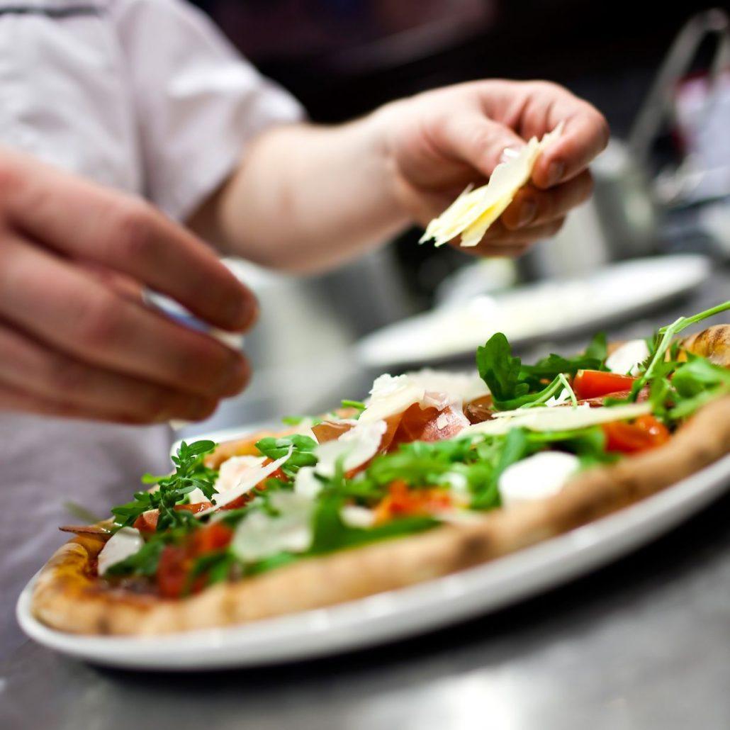 Pizzeria en bâtiment modulaire ou kiosque