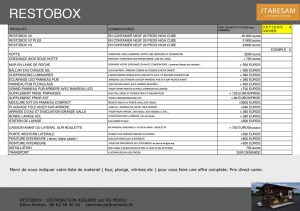 prix restobox